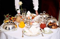 Room service breakfast table