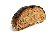 Bread on a white isolate background
