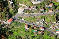 Road construction in the Corral of the Nuns or Curral das Freiras, Madeira, Portugal, Europe