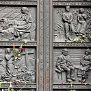 Close_up of a memorial, Oslo Cathedral, Oslo, Norway