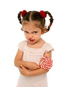 Toddler holding a lollypop