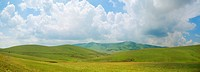 Panoramic image of mountain Zlatibor, famous tourist resort in Serbia.