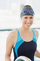 Portrait of smiling swimmer