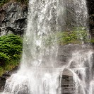 Low angle view of a waterfall, Steinsdalsfossen, Norheimsund, Hardangervidda, Hardanger, Norway