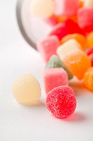 Delicious colorful candy on a white background