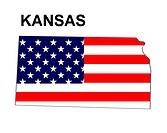 USA State Map Kansas
