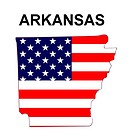 USA State Map Arkansas
