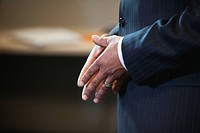 Close up of African American businessman´s hands