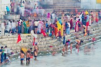 People enjoying Indian waterfront