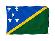 Solomon Islands. High resolution Oceania Flag series. With fabric texture.