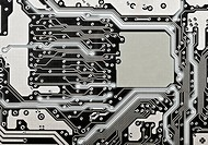 A circuit board close up