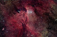 NGC 6188 is an emission nebula in Ara.