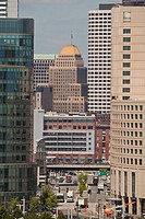 Skyscrapers in a city, Congress Street, Boston, Suffolk County, Massachusetts, USA