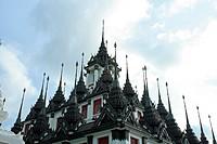 Pagoda in Wat Ratchanadda in Bangkok, Thailand