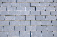 Abstract Architectural Detail of Slate Roof Tiles