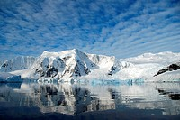 crisp reflections of antarctic landscape