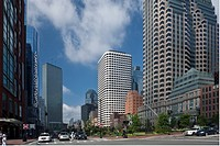 Buildings in a city, Rose Kennedy Greenway, Atlantic Avenue, Boston, Massachusetts, USA