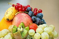 fresh fruits assortment, shallow deep of field