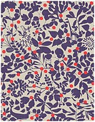 Vector seamless pattern displaying vintage whimsical floral.