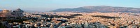 Huge panorama of Athens and Acropolis,famous landmark ,Greece, Balkans