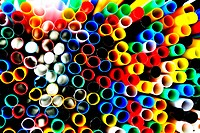 Lots of coloured straws