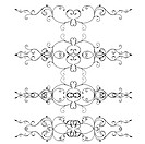 Set of ornate swirl design elements