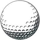 Vector golf ball close_up