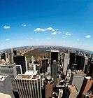 Skyline of Manhattan with Central Park, New York, USA, aerial photo