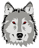 Abstract vector illustration of wolf
