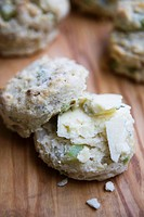 Celery Walnut Scone with Stilton Cheese