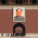 Painting of Mao Tse_Tung at the Tiananmen Gate Of Heavenly Peace, Tiananmen Square, Forbidden City, Beijing, China