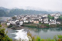 Landscape of a famous Chinese ancient town in Jiangxi