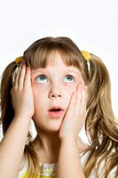 Stock photo: an image of little surprised girl
