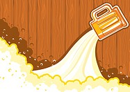 Beer background.Vector color symbol of Illustration for design