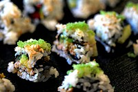 healthy very popular Japanese food sushi california roll