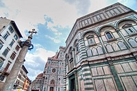 Architectural Detail of Piazza del Duomo in Florence, Italy