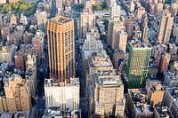 Aerial view of the buildings of manhattan.