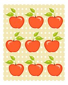 Cute apple background vector illustration