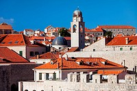 Dubrovnik Old City architecture in Croatia, South Dalmatia region