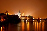 Prague at night. Czech Republic