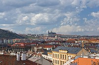 View on the Prague from Vysehrad, Czech republic
