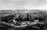 Bethania, Palestine, historical illustration, 1865