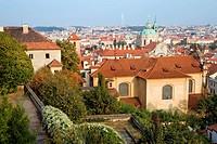Prague in Czech Republic, view from the Prague Castle.