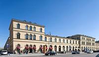 Bazar building and Ludwigstrasse, Odeonsplatz square, Altstadt-Lehel district, Munich, Bavaria, Deutschland, Europa