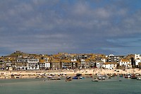 View of St. Ives, Cornwall, England, Great Britain, Europe