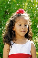 Latin little girl portrait