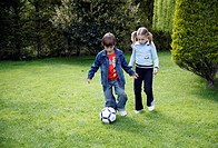 Children playing soccer (thumbnail)
