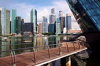 Asia Singapore Singapore City, from Marina Bay Sands shopping comlex Adrian Baker