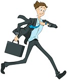 Businessman Running Late _ Vector