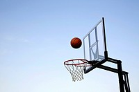 basketball going into net